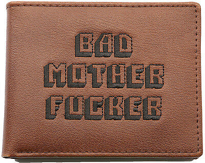 Pulp Fiction Bmf Real Leather Embroidered Brown Bad Mother F**ker Wallet