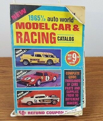 Model Car & Racing Catalog 1965 1/2 Auto World  9th edition