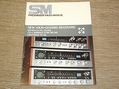 Pioneer stereo 4 channel receiver original catalogue Sales Manual