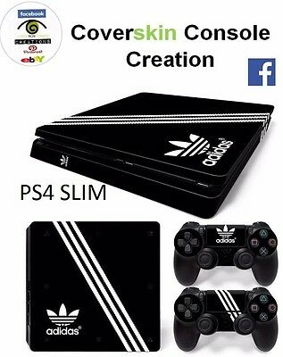 SKIN PS4 SLIM LIMITED ED. Console COVER Protective Sticker controllers CONSOLE