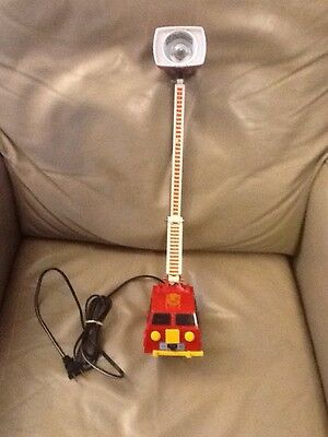 Vintage childs Fire Truck Lamp and Night Light works great