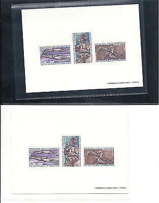 Cameroun/Kamerun,1972,OlympicGames,Munich,imperf.deluxe proof SS,2 differ. paper