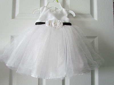 Holiday Editions White Ballerina Fancy Baby Girls Easter Dress Size 3-6 Months