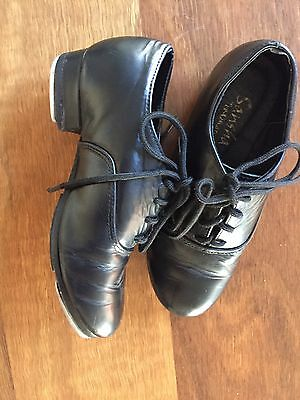Kids Child's Tap Shoes Boys Girls Leather Lace