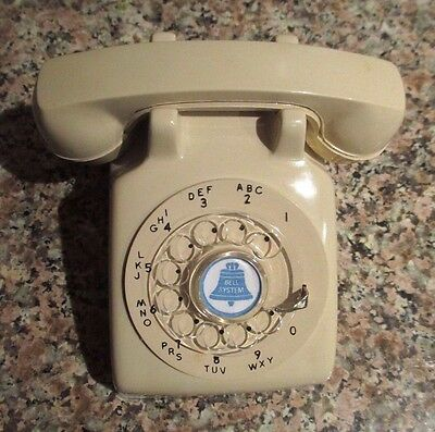 MINIATURE Bell Systems ROTARY Model 500 Telephone SALESMAN SAMPLE - BEIGE
