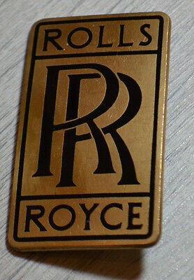 Rare Vintage Genuine Rolls Royce Car Badge / Brass / Top Quality