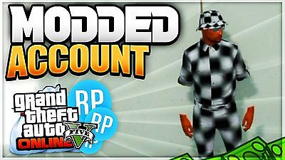 GTA 5 Modded Account (PS3,PS4,XB1,PC) *TRANSFER BYPASSED*