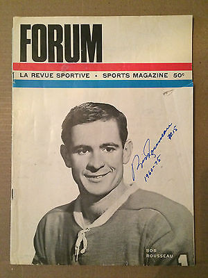 1965 Xmas Day Bobby Rousseau autographed Program (Habs vs Wings)