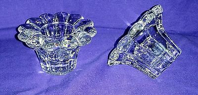 Gorgeous Pair Of Glass Flower Candle Holders