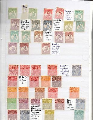 Australia stamps mint and used in 7 photos
