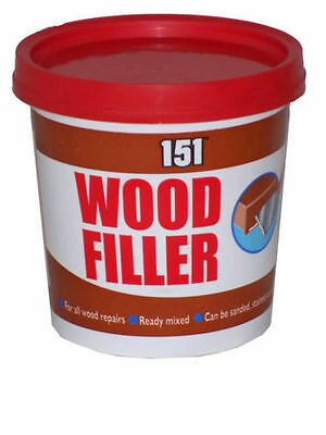 2 x WOOD FILLER ALL WOOD REPAIRS READY MIXED CAN BE SANDED,STAINED, PAINTED 600g