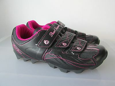 PEARL IZUMI Women's All Road Cycling Shoe Black and Pink Eur 38 US 6 1/2