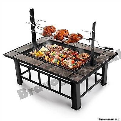 Outdoor Fire Pit BBQ Grill Garden Patio Camping Heater Fireplace Brazier Firepit