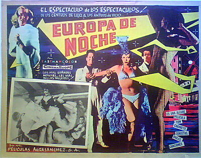 SEXY, EUROPA DI NOTTE EUROPE BY NIGHT Alessandro Blasetti LOBBY CARD '59