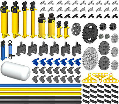 Lego Pneumatic PRO KIT (air,tank,cylinder,pump,tube,hose,switch,valve,piston,t)