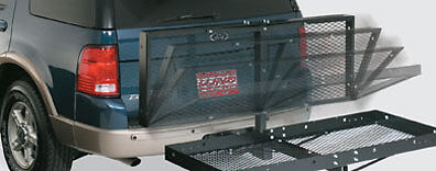 """1000 LB FOLDING Foldable Cargo Luggage Carrier Hauler 2"""" Hitch Receiver"""
