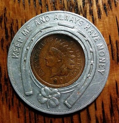 1901 Encased Indian Cent  Reading Hardware Co. Picnic Reading PA Chicago IL