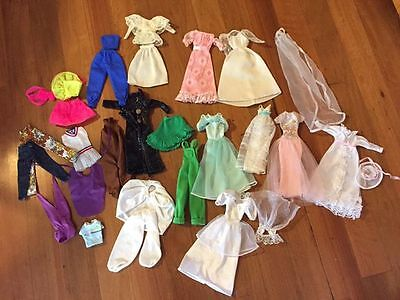 Bulk vintage Barbie 1980s clothing accessories and furniture
