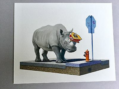 Josh Keyes Print The Collector Tiny Showcase COA Limited Edition Giclee
