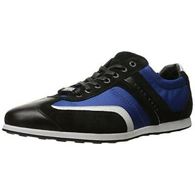 Hugo Boss 7546 Mens Stiven Blue Suede Fashion Sneakers Shoes 7 Medium (D) BHFO