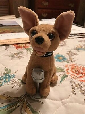 Taco Bell Plush Dog, Singing Chihuahua With Microphone