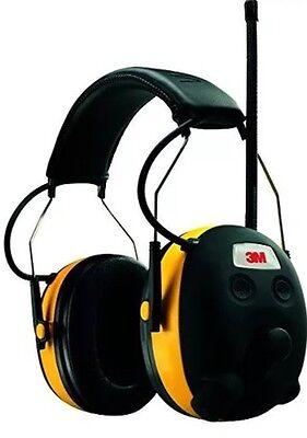 3M WorkTunes Hearing Protector AM/FM,Built-In Entertainment,MP3 Compatible,90541