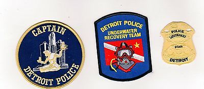 Michigan Police Patch City Of Detroit Set Of 3