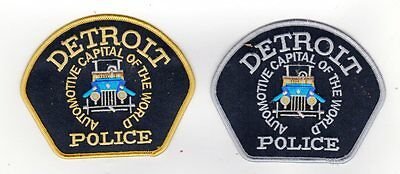 Michigan Police Patch City Of Detroit Patrolmen And Command Officer Set Of 2