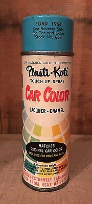 Vintage Plasti-Kote Car Color Touch-Up Spray Paint Can Stock No. 868