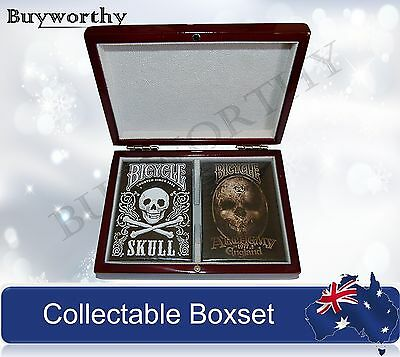 Skull Alchemy Playing Cards Gothic Decks Wooden Box Collectors Set Fantasy