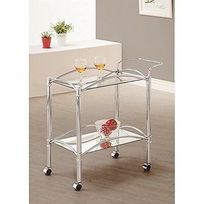Coaster Home Furnishings 910077 Serving Cart, Chrome