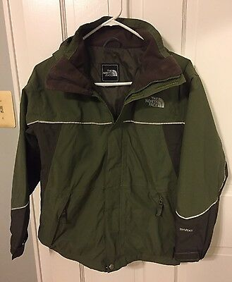 The North Face Boy's Triclimate Hooded Hyvent Jacket Size Large EUC