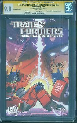 Transformers 36 CGC SS 9.8 Tony Fleecs Optimus Prime art Sketch top 1 Variant