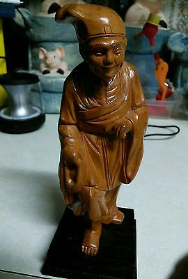 Chinese Cultural Revolution Wood Carved Man