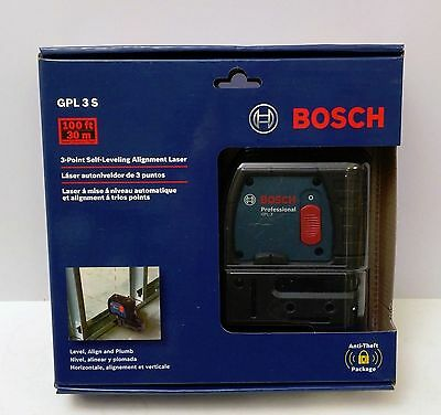 Bosch GPL3 S 3-Point Self-Leveling Alignment Laser Level NEW