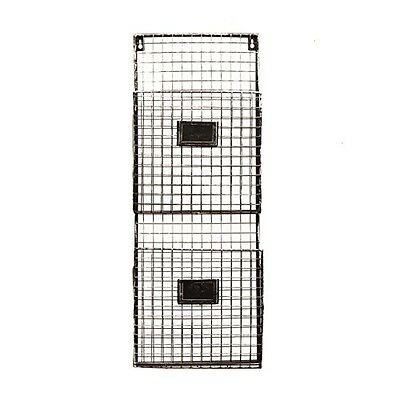 Designstyles Pewter Metal Wall Double File Holder
