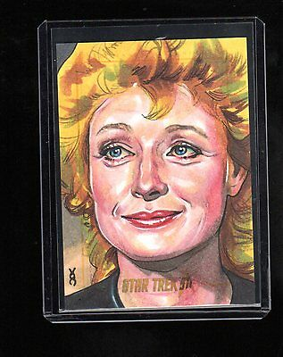 Star Trek 50th Anniversary  sketch card by Veronica O,Connell