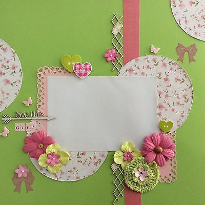 handmade scrapbook page 12 X 12 Love This Girl Layout