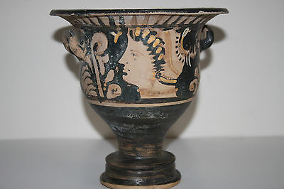 GOOD  ANCIENT GREEK POTTERY RED FIGURE CRATER 4th CENTURY BC
