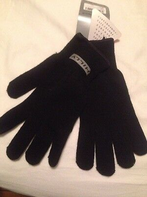 NEW Hilly Black fitness running gloves M Medium L Large size Knitted Warm