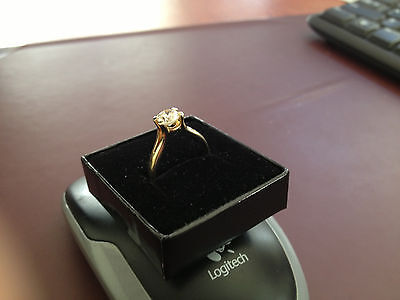 Diamond Solitaire 1.01 Ct. Ring In 18 Ct. Yellow Gold