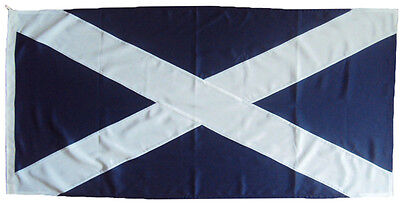 Scotland scottish  Sewn Fully 5x3 and 1 yards flags Made MOD Approved flag Cloth