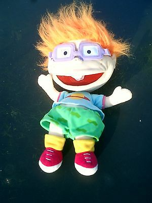 Nickelodeon Rug Rats Character Plush Hand Puppet Chuckie Great Rugrats toy