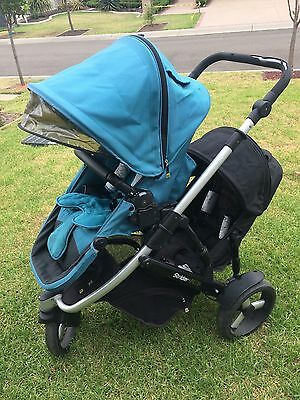 Steelcraft Strider Plus 3 Wheel Stroller With Second Seat And Capsule