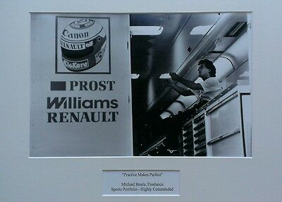 Alain Prost B&W photo at Williams Renault - Silverstone 1989