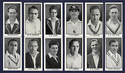 Thomson COUNTY CRICKETERS - Scarce untrimmed SET