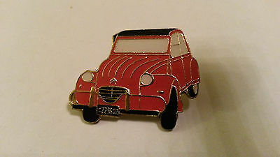 2CV Deux Chevaux Deudeuche CITROEN red front view PIN PIN'S