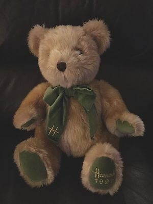 """Rare vintage Harrods 13"""" Christmas Bear - Limited Edition  foot dated 1995"""
