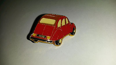 2CV Deux Chevaux Deudeuche CITROEN red back view PIN PIN'S