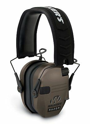 Game Razor Slim Electronic Ear Muffs Gun Shooting Range Hearing Protection Earth